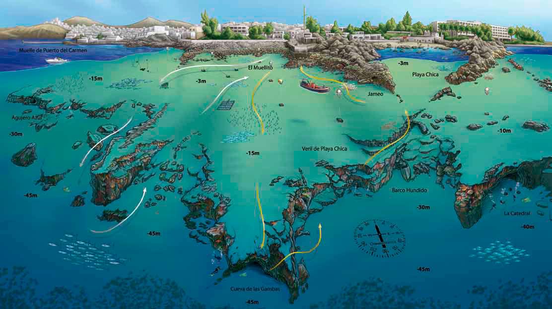Mapa Veril de playa chica
